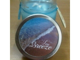 Scented candle in jar, Sea breeze